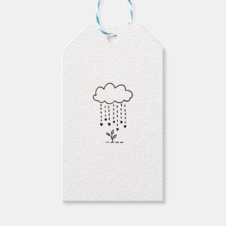 Raining love gift tags