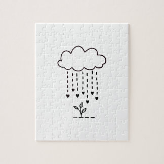Raining love jigsaw puzzle