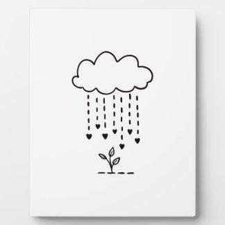Raining love plaque