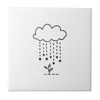Raining love tile