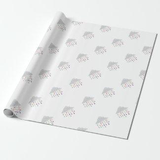 Raining Rainbows Wrapping Paper