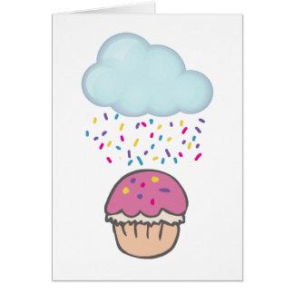 Raining Sprinkles on Cupcake Greeting Cards