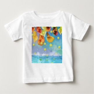 Raining tennis balls over the sea. baby T-Shirt