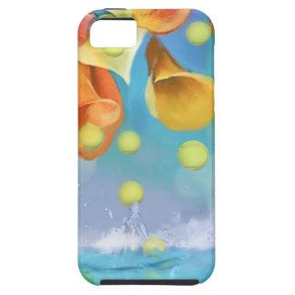 Raining tennis balls over the sea. iPhone 5 case