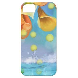 Raining tennis balls over the sea. iPhone 5 cases
