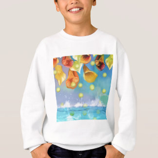 Raining tennis balls over the sea. sweatshirt