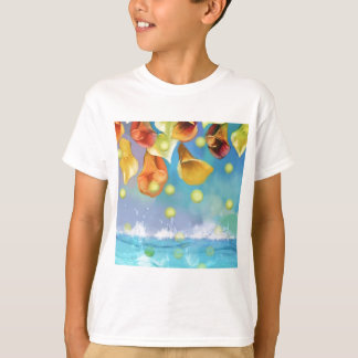 Raining tennis balls over the sea. T-Shirt