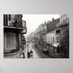 Rainswept Royal Street New Orleans Art Print