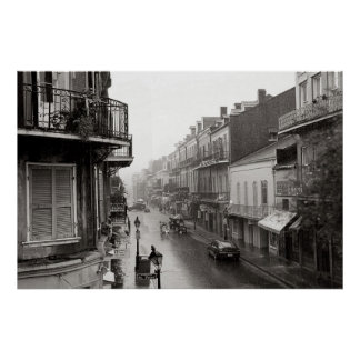 Rainswept Royal Street New Orleans Art Print