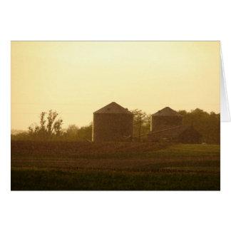 Rainy and Sunny Rural Landscape Card