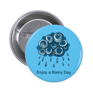 Rainy cloud 2 inch round button
