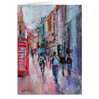 Rainy Day Carnaby Street Card