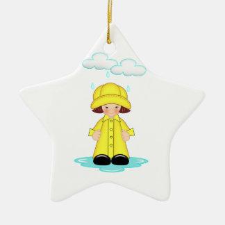 Rainy Day Ceramic Ornament