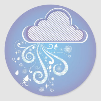 Rainy Day Classic Round Sticker