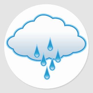 Rainy Day Classic Round Sticker