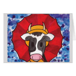 Rainy Day Cow1 Card