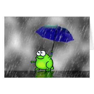 Rainy Day Frog Card