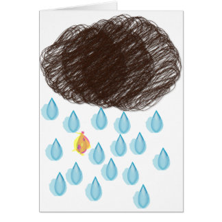 Rainy Day Furball Card