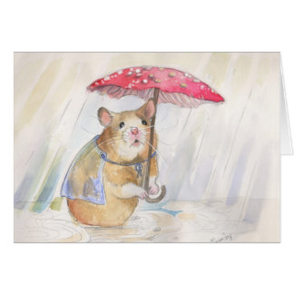 Rainy Day- Go Away!   by Christina Siravo Card