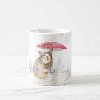 Rainy Day Hamster Coffee Mug