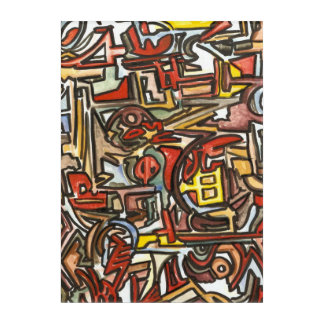 Rainy Day-Hand Painted Abstract Geometric Acrylic Wall Art