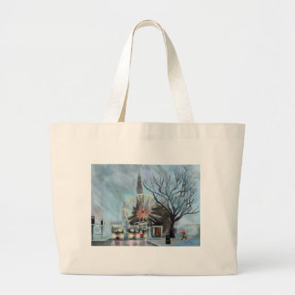 Rainy day in Edinburgh Large Tote Bag