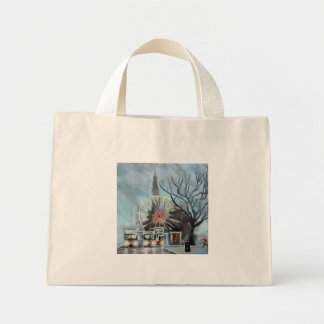 Rainy day in Edinburgh Mini Tote Bag