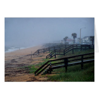 Rainy Day in Flagler Beach Florida Card
