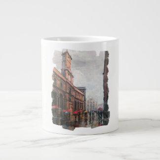 Rainy day in Milan Large Coffee Mug