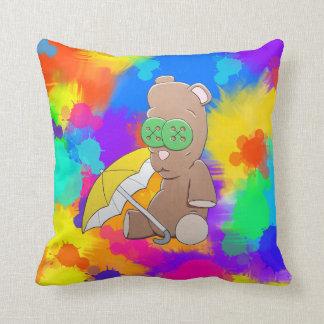 Rainy Day Teddy Pillow