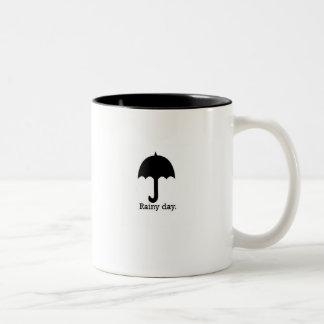 Rainy Day Two-Tone Coffee Mug