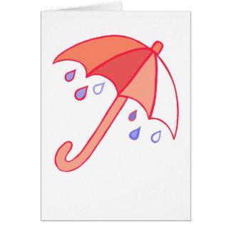 Rainy Day Umbrella Card