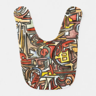Rainy Day - Watercolor And Ink Modern Art Baby Bibs