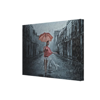 Rainy days canvas print