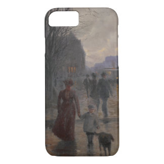 Rainy Evening on Hennepin Avenue, c.1902 iPhone 7 Case