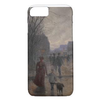 Rainy Evening on Hennepin Avenue, c.1902 iPhone 7 Case