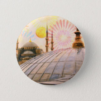 Rainy Istanbul 2 Inch Round Button