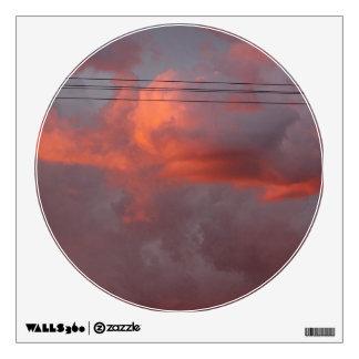 Rainy Monsoon Sunset Wall Sticker