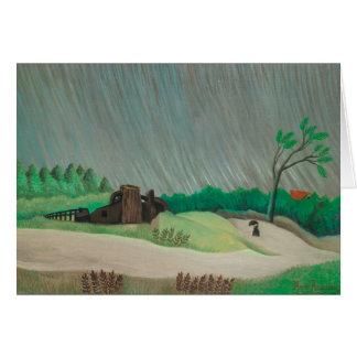 Rainy Morning Henri Rousseau, Vintage Fine Art Card