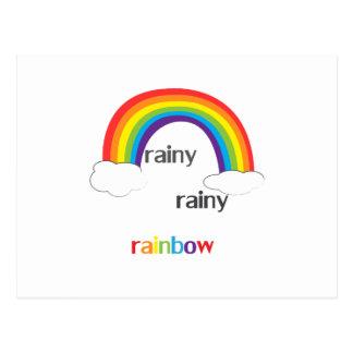 Rainy Rainy Rainbow Postcard