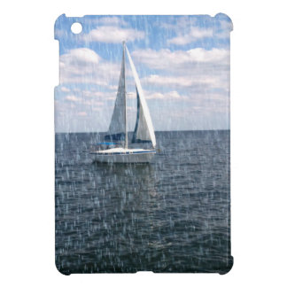 Rainy Sail Boat iPad Mini Case