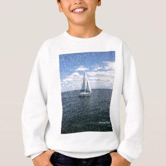 Rainy Sail Boat Sweatshirt