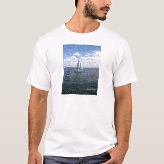 Rainy Sail Boat T-Shirt