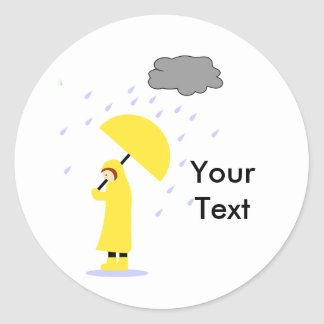 Rainy School Day Sticker