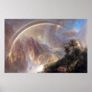 Rainy season in the tropics by Frederick Church Poster