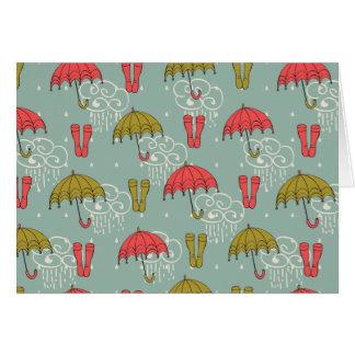 Rainy Season Umbrella Design Card