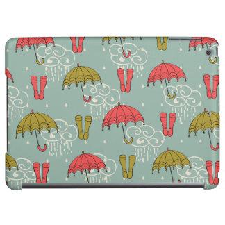 Rainy Season Umbrella Design iPad Air Cases