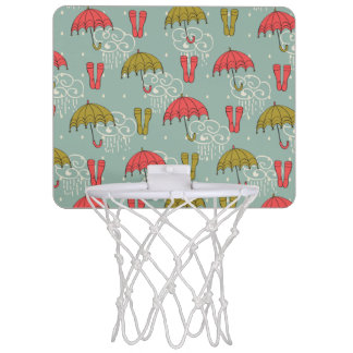 Rainy Season Umbrella Design Mini Basketball Hoop
