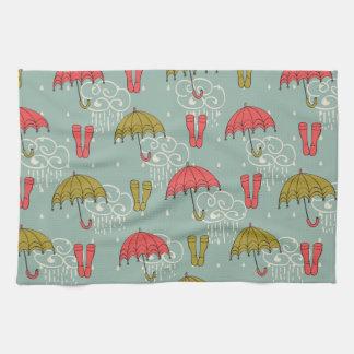 Rainy Season Umbrella Design Towels