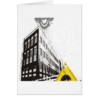 Rainy street illustration design card